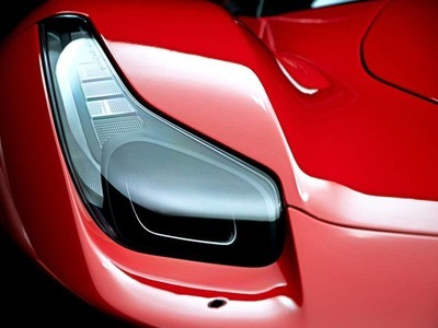 Red Ferrari Headlight