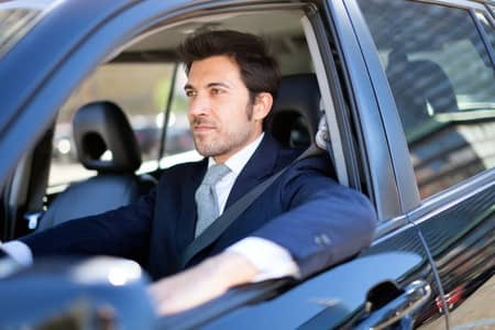 Man Enjoying Leisurely Drive